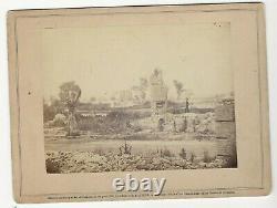 Civil War Rare Brady Album Gallery Card Ruins of Old Brick Church Hampton Va