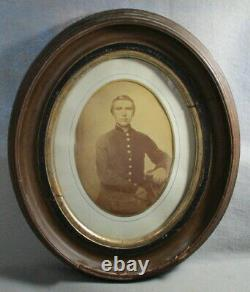 Civil War Relic Photo of a Union Officer in Uniform