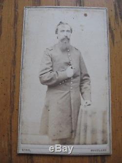 Civil War SOLDIER IDED CDV LT. JOSIAH W TUCKER CO. A 19TH MAINE VOLUNTEERS