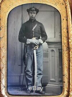 Civil War Soldier 1/10th Plate Tintype