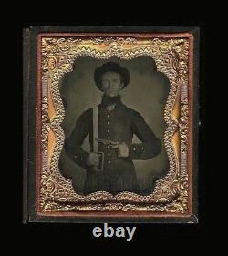 Civil War Soldier, 1/6 Ambrotype