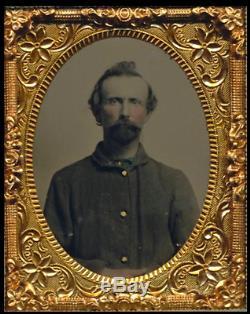 Civil War Soldier 1/9 Plate Tintype Infantry Soldier