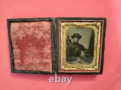 Civil War Soldier 9th Plate Tintype