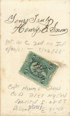 Civil War Soldier CDV Captain Henry E. Snow 21st New York Cavalry