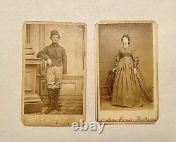 Civil War Soldier CDV Corp Francis H Pierce 6th US Cavalry & CDV of wife Carrie