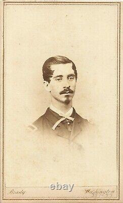 Civil War Soldier CDV Lieutenant Silas Kellogg Pierce 4th Michigan Cavalry