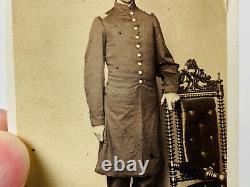 Civil War Soldier CDV Photo ID'd Captain Lyman Banks 11th Iowa 47th USCT