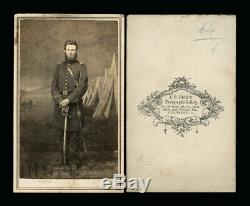 Civil War Soldier CDV Photo by African American Photographer JP BALL Cincinnati