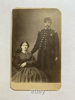 Civil War Soldier CDV Second Corps Officer With His Sister Pennsylvania