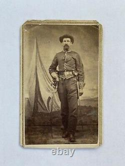 Civil War Soldier CDV Unknown Cavalryman With Saber