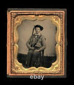 Civil War Soldier, Confederate, 1/6 Ambrotype
