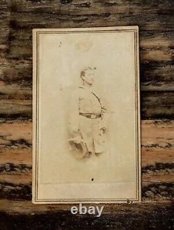 Civil War Soldier / Confederate COLONEL HARRY GILMOR CDV / Anthony, Brady