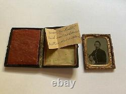 Civil War Soldier Ninth Plate Tintype Henry Umholtz From Pennsylvania