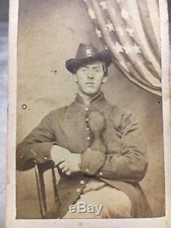 Civil War Soldier Photo T. M. Wells 6th Cavalry