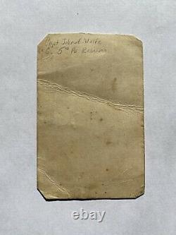 Civil War Soldier Signed CDV Capt Jonathan Wolfe 34th Pennsylvania 5th Reserves