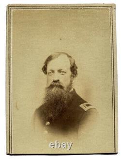 Civil War Soldier Signed CDV Captain Frederick M. Edgell NH Light Artillery