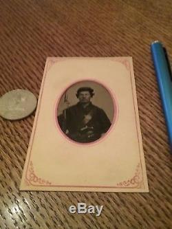 Civil War Soldier Tintype Armed