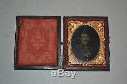 Civil War Soldier Tintype Photo in Case