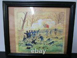 Civil War Soldier's Drawing of the Battle at Shiloh Artist Fred R. Ransom