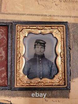 Civil War Solider Tintype Attributed W Historic New Britain Conneticut Civil War