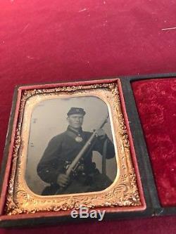 Civil War Tin Type Riffle Photo