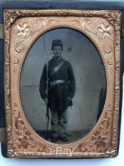 Civil War Tintype Probable 3rd West Virginia Infantry