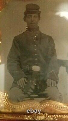 Civil War Tintype of a Union Soldier 1/6 plate