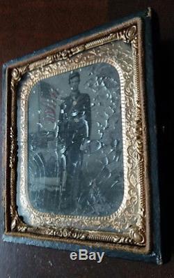 Civil War U. S. Soldier Daguerreotype Photo GAR Grand Army of the Republic Medal