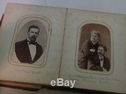 Civil War Uniformed Soldiers CDV Photos Case Armed Sword w Family Picture Album