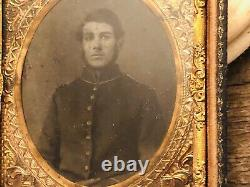 Civil War Union Officer Soldier Tintype Photograph Original 1/6th plate