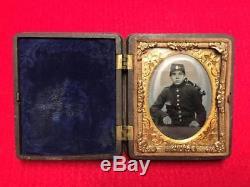 Civil War Union Soldier Tintype Photo