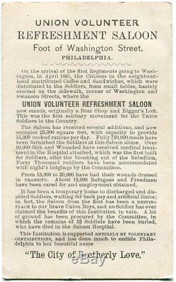 Civil War Union Volunteer Refreshment Saloon & Hospital Philadelphia CDV Photo