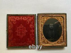 Civil War Unknown Union Officer Sixth Plate Ambrotype