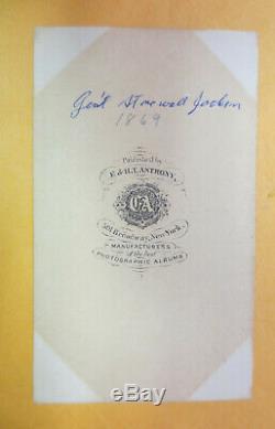 Civil War cdv Confederate Gen. Thomas STONEWALL Jackson, hand tinted, NICE