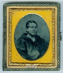 Civil War sailor 9th plate ambrotype