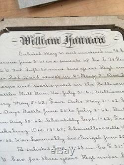 Civil war Colorado Territory discharge CDV photo & easel monument William Hannan