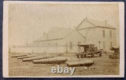 Civil war outdoor cdv of large Cannons