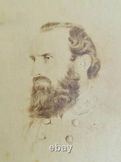Confederate General Stonewall Jackson Civil War CDV Photo, Cavendish London
