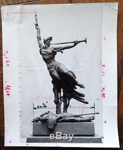Donald Delue Civil War Gettysburgh Louisiana Sculpture Orignal Drawing Photo Lot