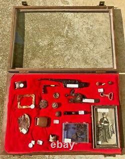 Dug Civil War Camp Relics c. 1860s Wartrace, TN goldplate buckles buttons PHOTO