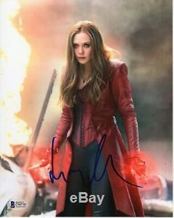 Elizabeth Olsen Signed Avengers Inifinity War Photo 8x10 CIVIL War Autograph Bas