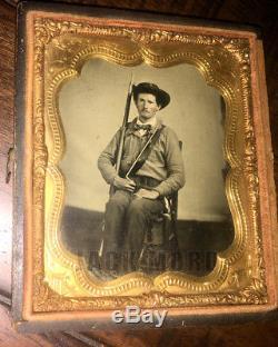 Excellent Confederate Civil War Soldier Photo Texas
