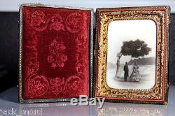 Extremely Rare & Beautiful 1860s OPALOTYPE Photo @ NIAGARA FALLS + Civil War Tax