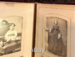 FOUR civil war & later albums 168 total antique photos tintypes cdvs (SA6)