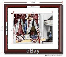 Ford's Theatre Lincoln assassination 11x14 Framed Photo Color Civil War -02961
