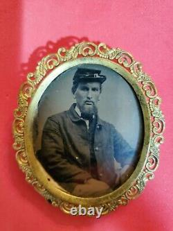 Framed Civil War Soldier Image
