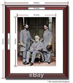 Gen Robert E Lee son staff Confederate 11x14 Framed Photo Color Civil War -03114