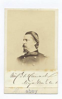 General Winfield Scott Hancock CIVIL War Signed CDV Photo From Crosman Album