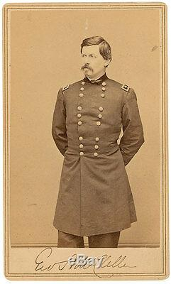 George B. McClellan CDV Photo Signed Civil War Great Autographed Image