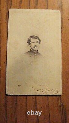 IDED Civil War Soldier CDV CAPTAIN J. H. HORTON CO. A 141ST PENNSYLVANIA VOLS